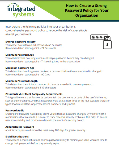 Free Download of How to Create a Strong Password Policy
